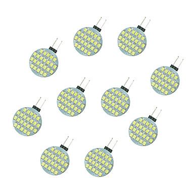 10 stuks 2.5W 189 lm G4 2-pins LED-lampen 24 leds SMD 2835 Warm wit Wit DC 12V