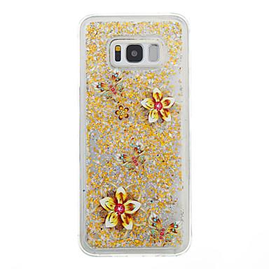 Hülle Für Samsung Galaxy S8 Plus S8 Mit Flüssigkeit befüllt Rückseitenabdeckung Blume Weich TPU für S8 S8 Plus S7 edge S7 S6 edge S6 S5