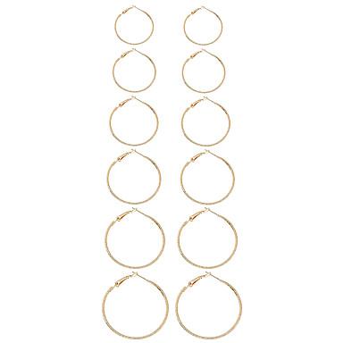 Pentru femei Închizătoare Cercel  Cercei Rotunzi  Design Circular Geometric Stil Punk Euramerican MetalPistol Aliaj Circle Shape Bijuterii