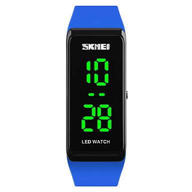 SKMEI Damen Sportuhr Modeuhr Armbanduhr Digitaluhr Japanisch digital LED Kalender Wasserdicht leuchtend PU Band Cool Schwarz Blau Rot