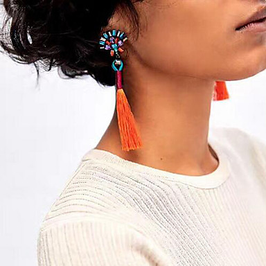 Pentru femei Cercei Picătură Vintage Boem Euramerican Modă Aliaj Geometric Shape Bijuterii Negru Maro Rosu Verde Albastru Deschis