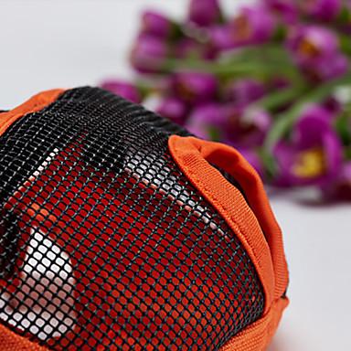 كلب الكمامات مكافحة النباح سادة نايلون برتقالي رمادي