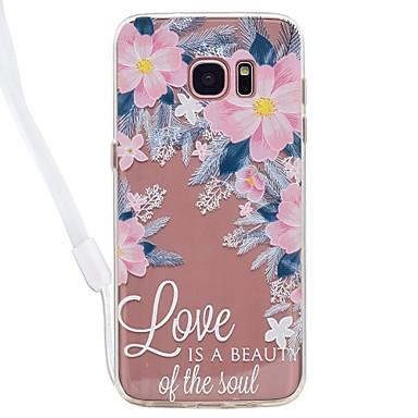 Hülle Für Samsung Galaxy S8 Plus S8 Transparent Muster Rückseitenabdeckung Wort / Satz Durchsichtig Blume Hart Acryl für S8 S8 Plus S7