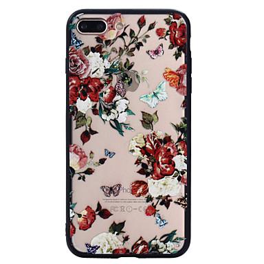 لتفاح إفون 7 زائد 7 حالة الهاتف السرد فراشة الزهور نمط رسمت الورنيش تنقش فرك حالة الهاتف 6 ثانية زائد 6 زائد 6 ثانية 6 سي 5 5