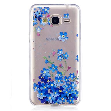 غطاء من أجل Samsung Galaxy J7 Prime J5 Prime IMD شفاف نموذج غطاء خلفي زهور ناعم TPU إلى J7 (2016) J7 Prime J5 (2016) J5 Prime J3 J3 (2016)
