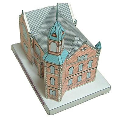 3D - Puzzle Papiermodel Modellbausätze Papiermodelle Spielzeuge Burg Berühmte Gebäude Kirche Architektur 3D Heimwerken Unisex Stücke
