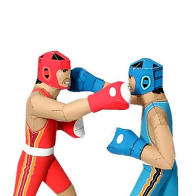 قطع تركيب3D نموذج الورق أشغال الورق مجموعات البناء الملاكمة منافسة اصنع بنفسك ورق صلب كلاسيكي الرياضة للأطفال صبيان للجنسين هدية