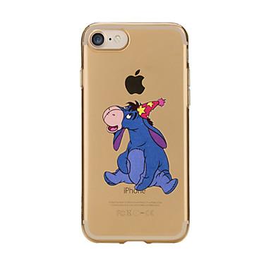 Maska Pentru Apple iPhone 7 Plus iPhone 7 Transparent Model Capac Spate Desene Animate Moale TPU pentru iPhone 7 Plus iPhone 7 iPhone 6s