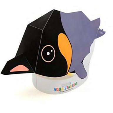 Mască de Halloween Modelul de hârtie Lucru Manual Din Hârtie Μοντέλα και κιτ δόμησης Jucarii Reparații Pătrat Pinguin 3D Hârtie Rigidă