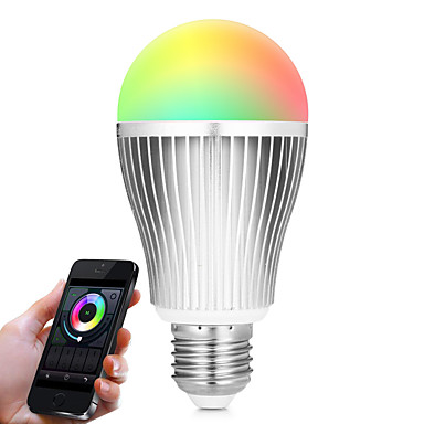 BRELONG® 9W 900lm E27 LED 스마트 전구 A60(A19) 20 LED 비즈 SMD 5730 Wifi 적외선 센서 밝기조절가능 조명 제어 리모컨 작동 RGB 화이트 듀얼 광원 색상 85-265V