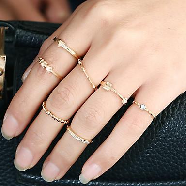 Dames Ring manchet Ring Cirkelvormig ontwerp Euramerican Eenvoudige Stijl Metaallegering Strass Legering Rond Cirkelvorm Sieraden