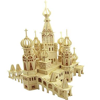 3D-puzzels Legpuzzel Houten puzzels Modelbouwsets Architectuur Overige 3D DHZ Natuurlijk Hout Klassiek Volwassenen Unisex Geschenk