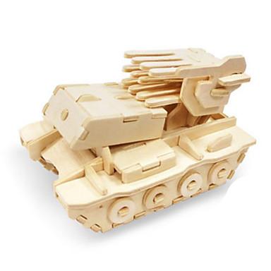 Speelgoedauto's 3D-puzzels Legpuzzel Hout Model Speeltjes Dinosaurus Tank Vliegtuig Vrachtwagen 3D Dieren DHZ Hout Niet gespecificeerd