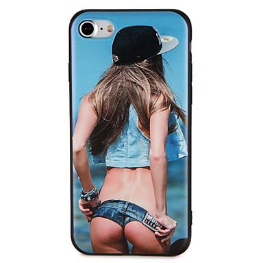 hoesje Voor iPhone 7 Plus iPhone 7 iPhone 6s Plus iPhone 6 Plus iPhone 6s iPhone 6 iPhone 5 Apple Patroon Reliëfopdruk Achterkant Sexy