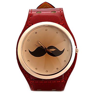 Dames Gesimuleerd Diamant Horloge Unieke creatieve horloge Modieus horloge Chinees Kwarts imitatie Diamond Leer Band Glitter Snorren