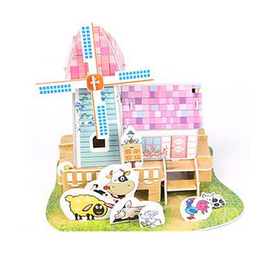 3D-puzzels Legpuzzel Bouwplaat Modelbouwsets Huis Architectuur 3D DHZ Korkealaatuinen paperi Klassiek Jongens Unisex Geschenk