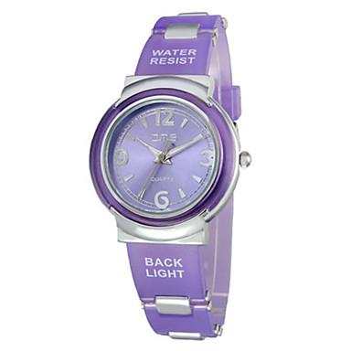 Dames Modieus horloge Kwarts Waterbestendig Rubber Band Blauw Paars