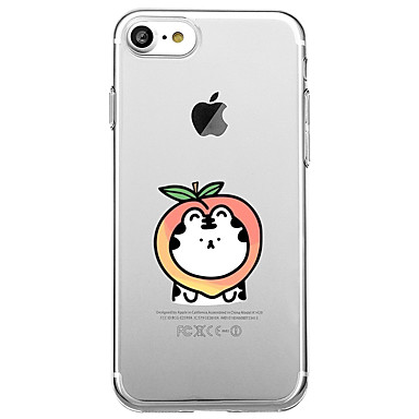voordelige iPhone 5 hoesjes-hoesje Voor iPhone 7 / iPhone 7 Plus / iPhone 6s Plus iPhone SE / 5s Transparant / Patroon Achterkant Cartoon / Fruit Zacht TPU