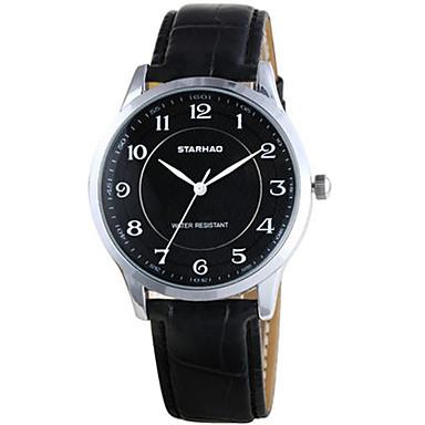 Dames Modieus horloge Kwarts Waterbestendig Leer Band Zwart