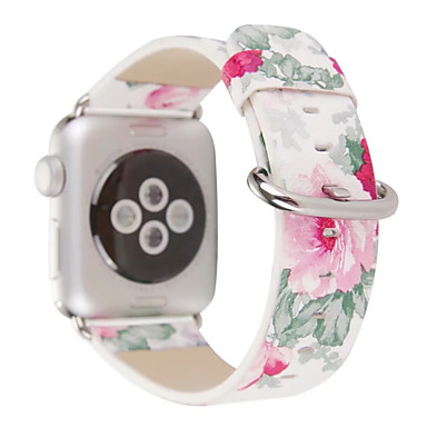 Uhrenarmband für Apple Watch Series 3 / 2 / 1 Apple Klassische Schnalle Echtes Leder Handschlaufe