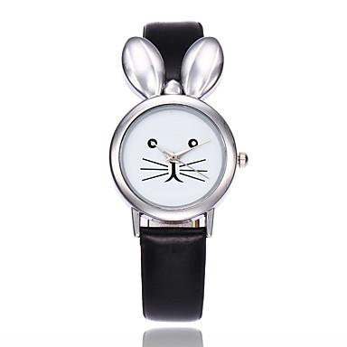 Damen Quartz Armbanduhr Chinesisch Armbanduhren für den Alltag PU Band Kreativ Einzigartige kreative Uhr Elegant Modisch Schwarz Weiß Rot