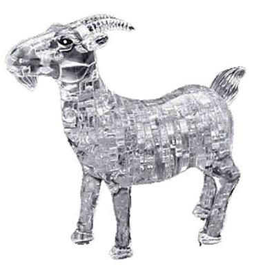 3D-puzzels Legpuzzel Kristallen puzzels Honden Toren Paard Beer Kunststoffen Rauta Unisex Geschenk