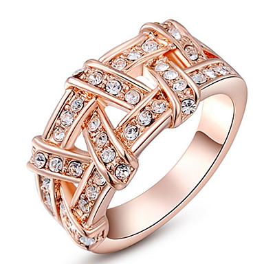 Damen Bandringe Kristall Personalisiert Luxus Klassisch Grundlegend Sexy Liebe Modisch nette Art Elegant Krystall Aleación Kreisförmig