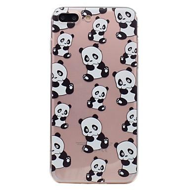 Für Apfel iphone 7 7plus Telefonkasten tpu materielles Pandamuster gemaltes Telefonkasten 6s plus 6plus 6s 6 se 5s 5