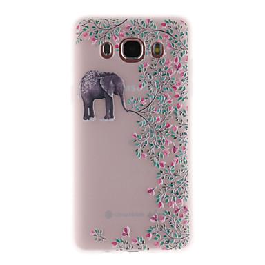 Hülle Für Samsung Galaxy J7 (2017) J3 (2017) Durchscheinend Muster Rückseite Elefant Weich TPU für J7 Prime J7 (2017) J7 (2016) J5 Prime