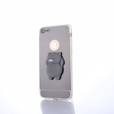 voordelige iPhone 7 hoesjes-hoesje Voor Apple iPhone X / iPhone 8 Plus / iPhone 8 Spiegel / DHZ / squishy Achterkant Effen Hard PC
