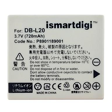 ismartdigi dbl20 camera foto baterie 720mah 3.7v pentru sanyo xacti vpc - ca9 și mai mult