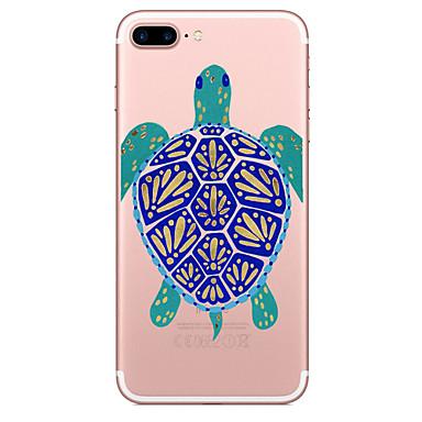 Hülle Für Apple iPhone 7 Plus iPhone 7 Transparent Muster Rückseite Tier Weich TPU für iPhone 7 Plus iPhone 7 iPhone 6s Plus iPhone 6s