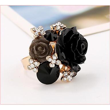 Pentru femei manşetă Ring Ștras Roz trandafiriu Rosu Verde Albastru Bleumarin Perle Roz Geometric Shape Floare Floral Nuntă Petrecere