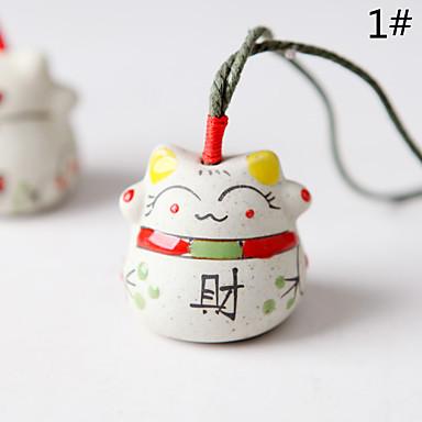 كيس / الهاتف / المفاتيح سحر القط الكرتون لعبة السيراميك النمط الصيني
