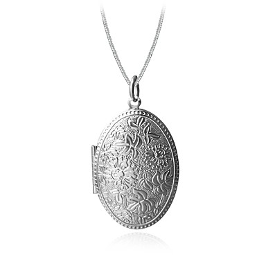 78ba8346b2a62 Men's Women's Pendant Necklace Engraved Locket Luxury Classic Gothic  Hip-Hop Gold Plated Alloy Gold Silver Necklace Jewelry For Christmas Party  Formal ...