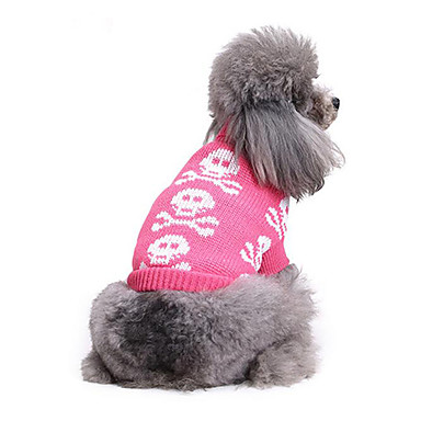 Pisici Câine Pulovere Îmbrăcăminte Câini Casul/Zilnic Cranii Costume Pentru animale de companie