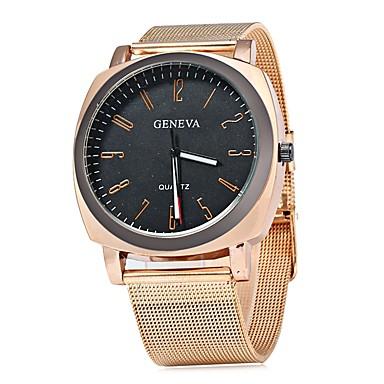 Herrn Modeuhr Armbanduhr Armbanduhren für den Alltag Chinesisch Quartz Großes Ziffernblatt Metall Band Freizeit Cool Rotgold