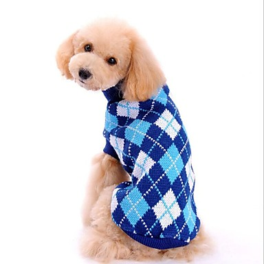 Câine Pulovere Îmbrăcăminte Câini Geometric Albastru Închis Roz Poliester Costume Pentru animale de companie Bărbați Pentru femei