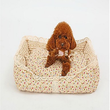 Hund Betten Haustiere Körbe Blume Warm Weich Waschbar Für Haustiere