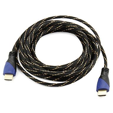 Akıllı led hdtv, elma tv, blu-ray dvd (5 m) için yüksek hızlı HDMI kablo 1.4V desteği 3d
