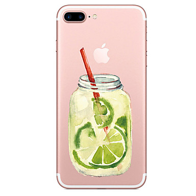 Voor apple iphone 7 7 plus case cover fruit fles patroon geschilderd hoge penetratie tpu materiaal zacht geval telefoon hoesje voor iphone