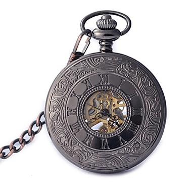Bărbați Ceas de buzunar Mecanism automat Aliaj Bandă Negru