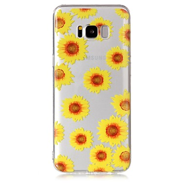 hoesje Voor Samsung Galaxy S8 Plus S8 Transparant Patroon Achterkantje Bloem Zacht TPU voor S8 S8 Plus S7 edge S7