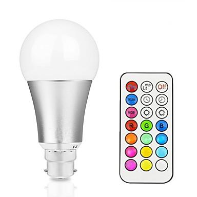 12W 700-800 lm مصابيح صغيرة LED A60(A19) 15 الأضواء LED مدموج تخفيت ديكور جهاز تحكم RGB + الدافئة RGB + الأبيض AC85-265