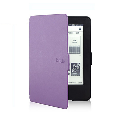 Case For Amazon Kindle Full Body Cases Full Body Cases Solid Color Hard PU Leather for