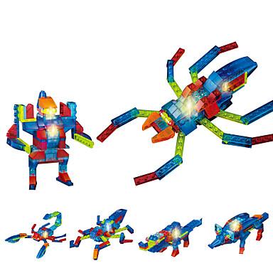 إضاءةLED أحجار البناء ألعاب تربوية SPIDER حشرة كوول للجنسين هدية