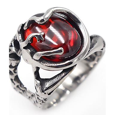 Dames Synthetische Ruby Klassiek Elegant Kristal Roestvast staal Ovaal Sieraden Dagelijks Causaal
