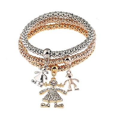 Pentru femei Diamant sintetic Ștras Boem Brățări Bangle - Metalic Personalizat Boem Natură În Două Părți Circle Shape Auriu Brățări Pentru