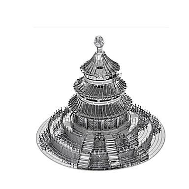 تركيب تركيب معدني ألعاب دائري بناء مشهور الزراعة الصينية 3D معبد الفردوس اصنع بنفسك سبيكة للجنسين قطع
