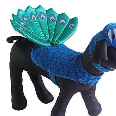 Câine Costume Îmbrăcăminte Câini Cosplay Mată Albastru Costume Pentru animale de companie